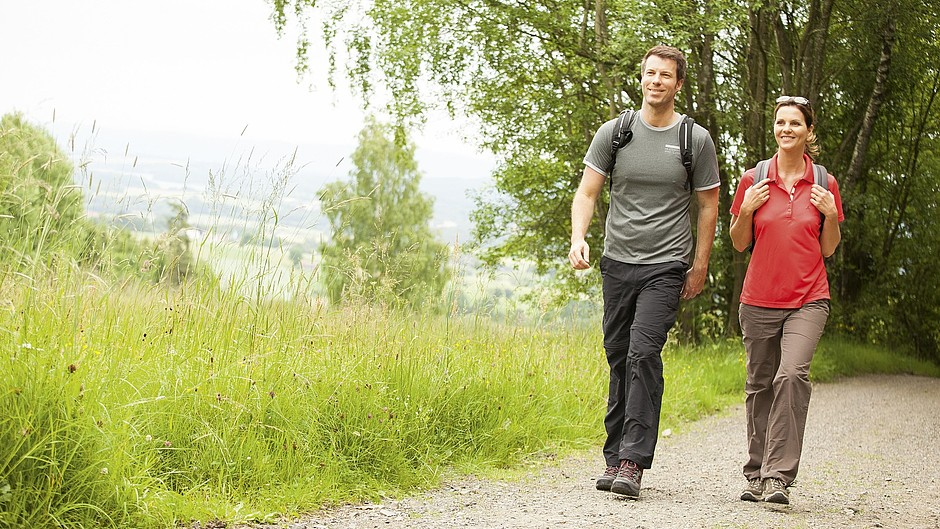 Woman man hiking Outdoor