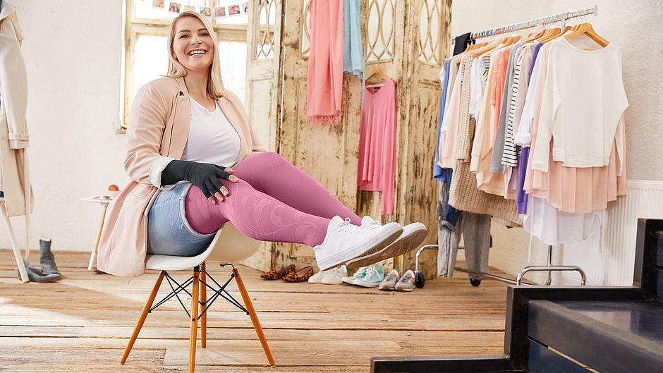 your story Caroline Sprott Flachstrick pink legs