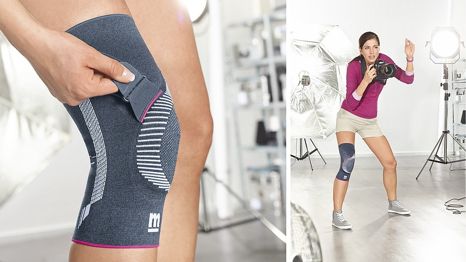 Genumedi PT knee supports photographer medi
