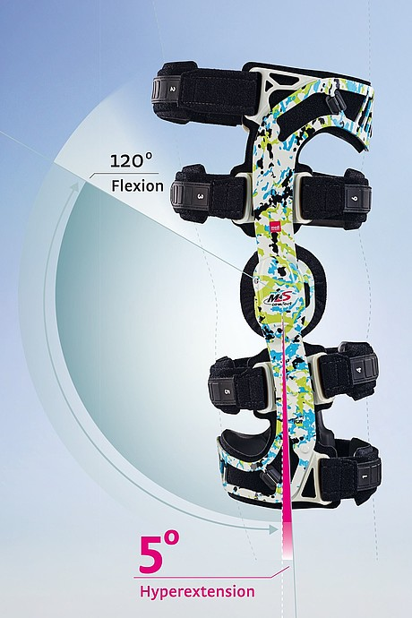 M.4s comfort knee brace illustration