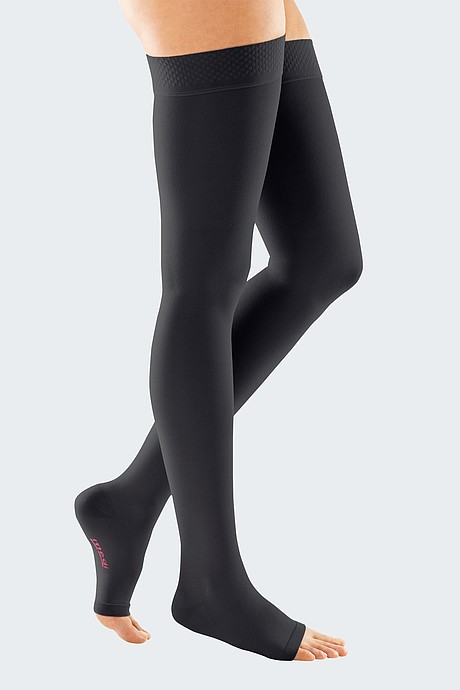 mediven forte compression stockings open toe black
